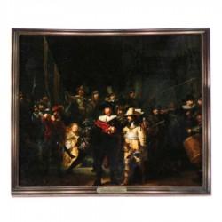 Bekende Schilders Nachtwacht - Rembrandt - 3D MDF