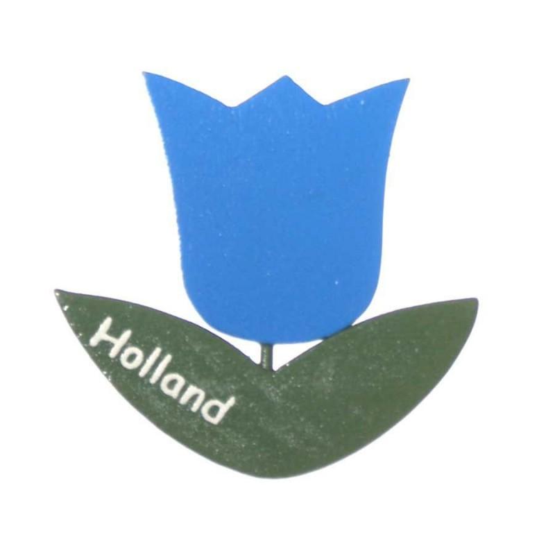 Tulips Tulip Blue - Magnet Wood