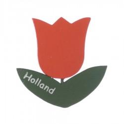 Tulp Oranje - Magneet Hout