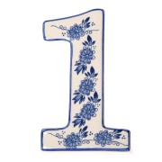 Delft Blue  Housenumber 1 - Delft Blue