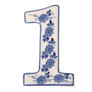 Delfts Blauw Huisnummer 1 - Delfts Blauw