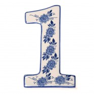 Housenumber 1 - Delft Blue