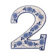 Delfts Blauw Huisnummer 2 - Delfts Blauw