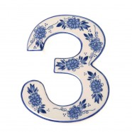 Delfts Blauw Huisnummer 3 - Delfts Blauw