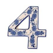 Delfts Blauw Huisnummer 4 - Delfts Blauw