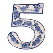 Delfts Blauw Huisnummer 5 - Delfts Blauw