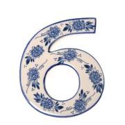 Delfts Blauw Huisnummer 6 - Delfts Blauw
