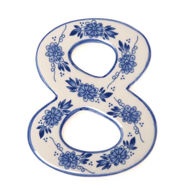 Delft Blue  Housenumber 8 - Delft Blue