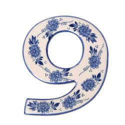 Delft Blue  Housenumber 9 - Delft Blue