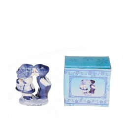 Kissing Couple 4cm - Holland - Delft Blue