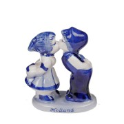 Kussend Paartje Kussend Paar 6cm - Holland - Delfts Blauw