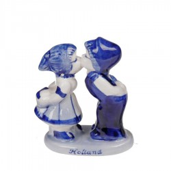 Kissing Couple 6cm - Holland - Delft Blue