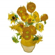 Flat Flowers - Originals Window Stickers Van Gogh - Sunflowers