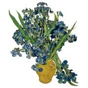 Flat Flowers - Originals Window Stickers Van Gogh - Irises