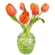 Flat Flowers - Originals Raamstickers Tulp Oranje