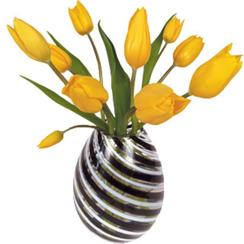 Flat Flower Raamsticker - Gele Tulp