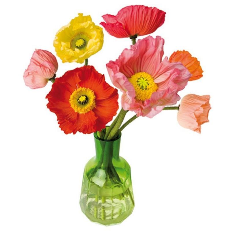 Flat Flower Raamsticker - Poppy