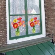Flat Flowers - Originals Window Stickers Poppy