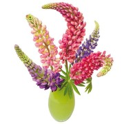 Flat Flowers - Originals Window Stickers Lupine