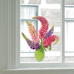 Flat Flower Raamsticker - Lupine