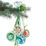 Flat Flowers - Originals Raamstickers Kerstmis Groene Kerstballen