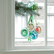 Flat Flowers - Originals Window Stickers Christmas Green Ornaments