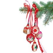 Flat Flowers - Originals Raamstickers Kerstmis Rode Kerstballen