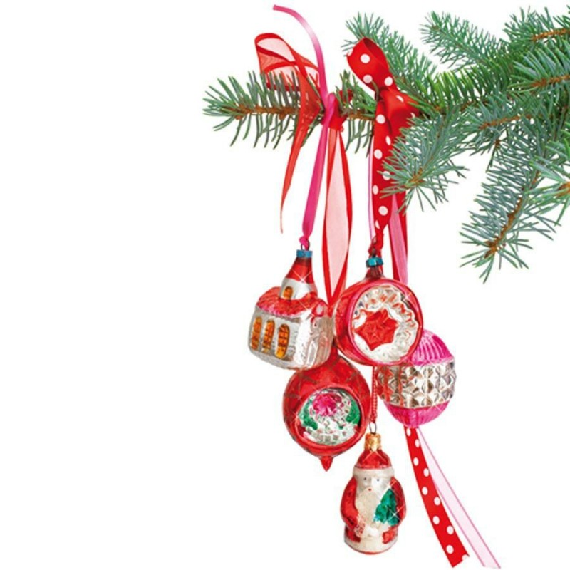 Window Sticker Christmas - Red Ornaments