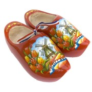 Red Tulip Wooden Shoes