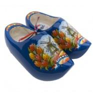 Blauwe - Tulpen - Houten Klompen