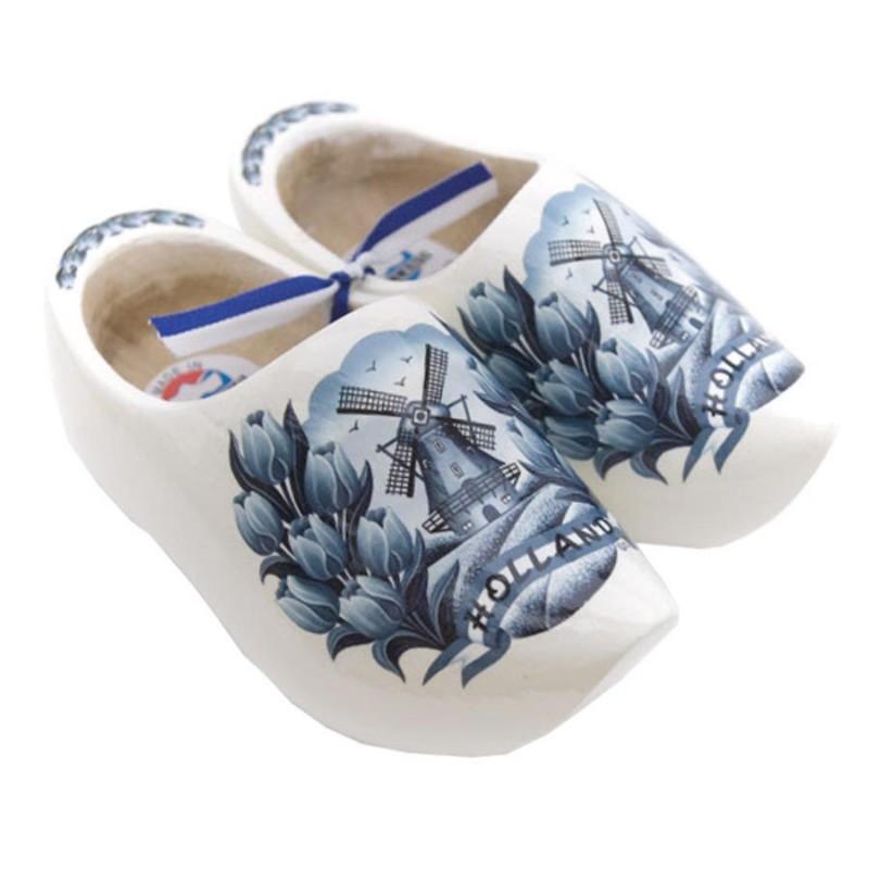 Delfts Blauwe - Tulpen - Houten Klompen