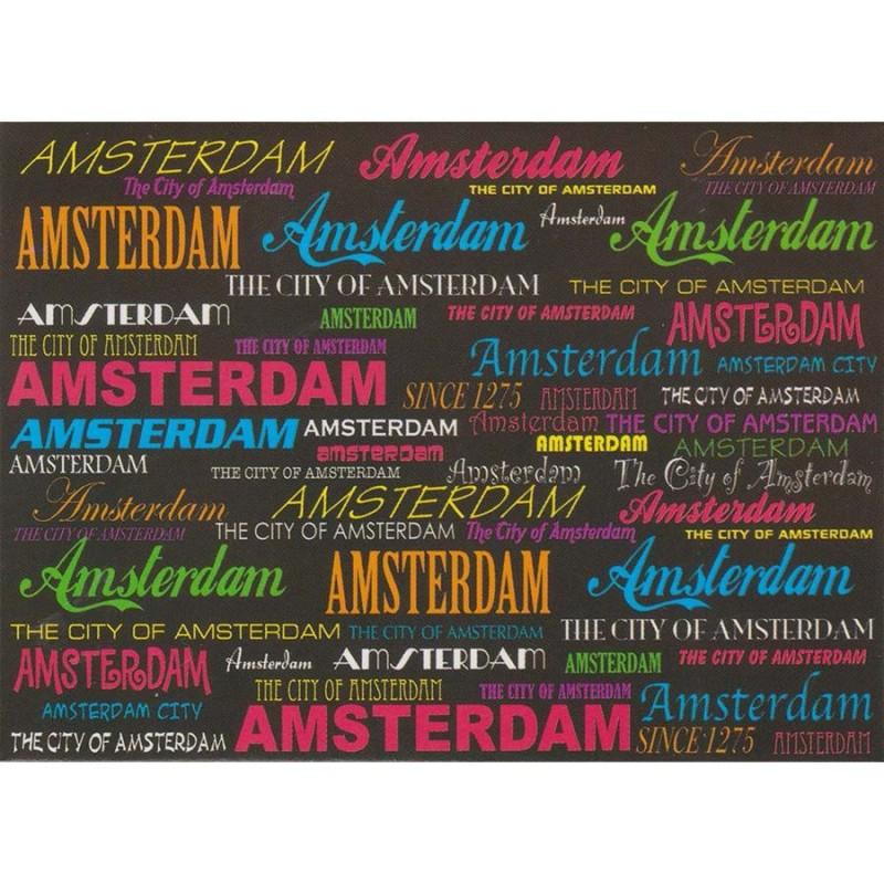 Black Amsterdam - Flat Magnet