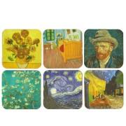 Onderzetters Van Gogh - Kurk Onderzetters - 6 assorti