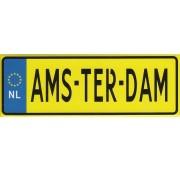 Magneten Amsterdam Kentekenplaat