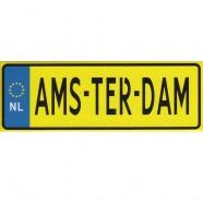 Amsterdam Kentekenplaat - Platte Magneet