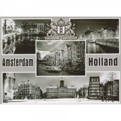 Zwart en Wit Amsterdam Holland