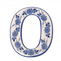 Delfts Blauw Huisnummer 0 - Delfts Blauw
