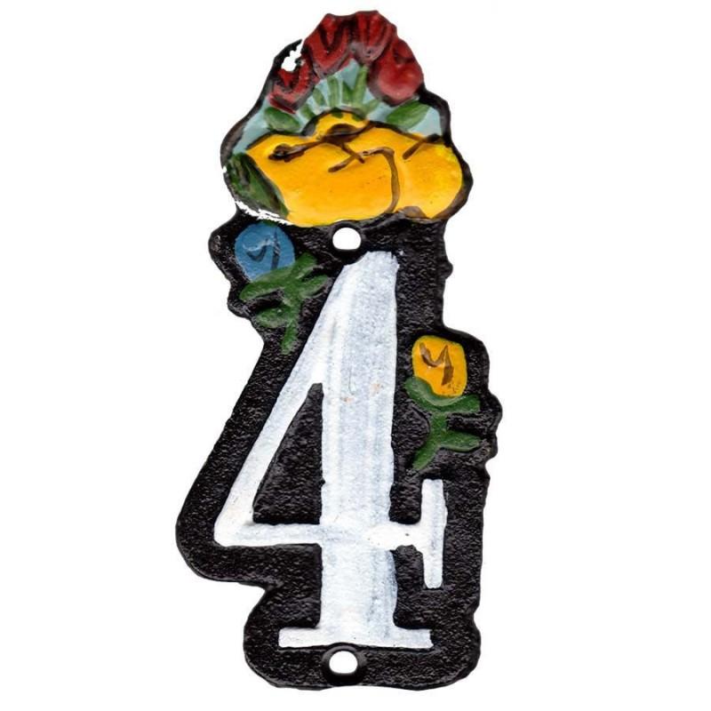 Gietijzer Huisnummer 4 - Gietijzer