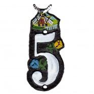 Housenumber 5 - Cast iron