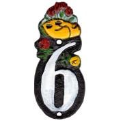 Gietijzer Huisnummer 6 - Gietijzer