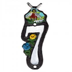 Gietijzer Huisnummer 7 - Gietijzer