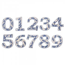 Delft Blue  Housenumber 7 - Delft Blue