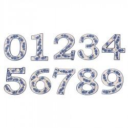 Housenumber 9 - Delft Blue
