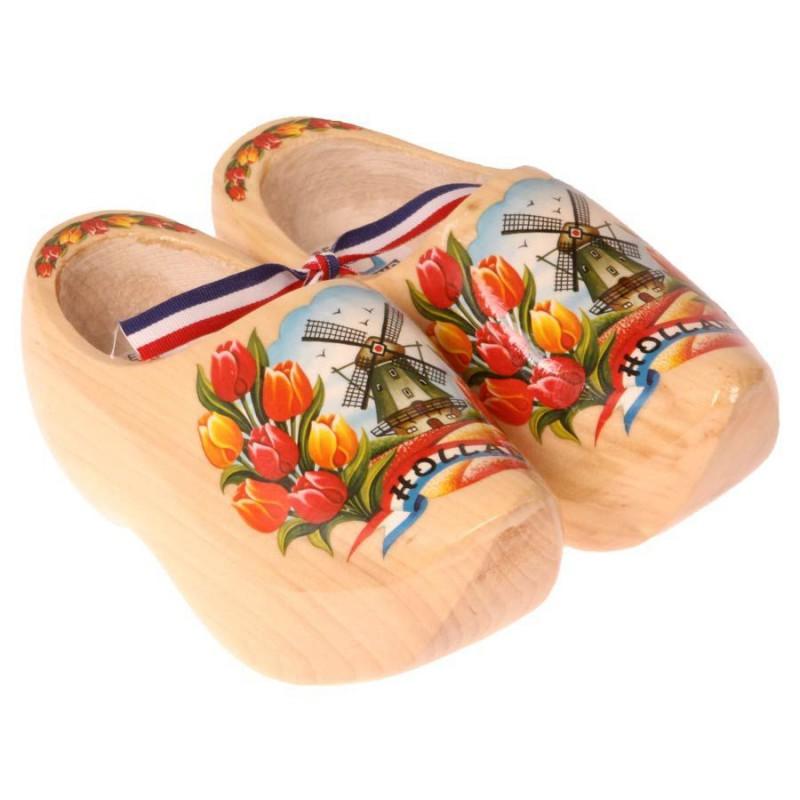 Blank Gelakt - Tulpen - Houten Klompen