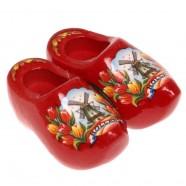 Rood Tulpen - Klompenpaar - Magneet