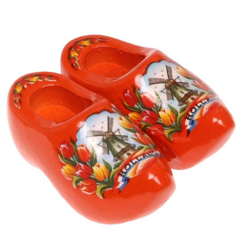 Klompen Oranje Tulpen - Klompenpaar - Magneet