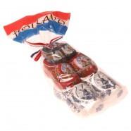3 Klompjes in Zakje - Rood Wit Blauw