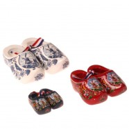 Decoratie 3 Klompjes in Zakje - Rood Wit Blauw