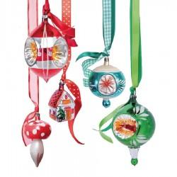 Flat Flowers - Originals Raamstickers Kerstmis Mix - Rode Groene Kerstballen