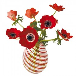 Flat Flowers - Originals Window Stickers Anemone Red